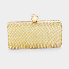 Load image into Gallery viewer, Gold Pearl Clasp Clutch