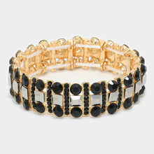 Load image into Gallery viewer, Crystal Rhinestone Stretch Evening Bracelet