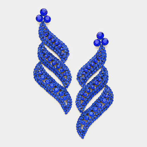 Royal Pave Crystal Evening Earrings