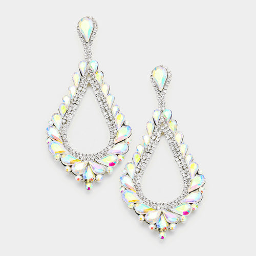 Teardrop Cluster Vine Evening Earrings (MORE COLORS AVAILABLE)