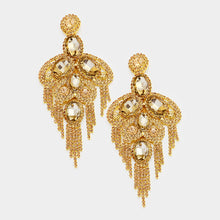 Load image into Gallery viewer, Rhinestone Fringe Evening Earrings  (MORE COLORS AVAILABLE)