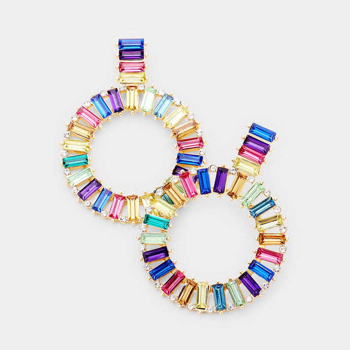 Colorful Crystal Stone Earrings