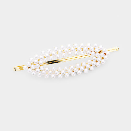 Pearl Cluster Oval Hair Pin