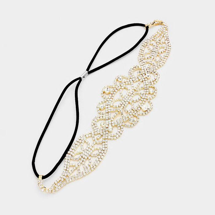 Gold Crystal Headband