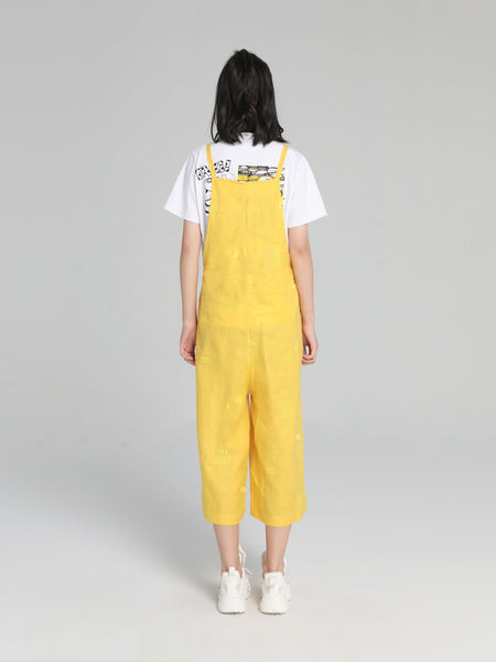 Yellow Ramie Jumpsuit