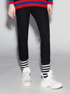 Black Retro Stripe Lounge Pants