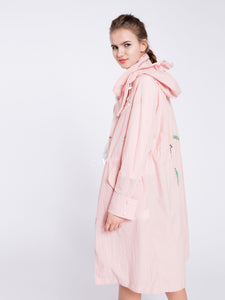 Pink Hooded Sports Coat