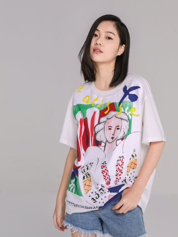 White Matisse Painting T-Shirt