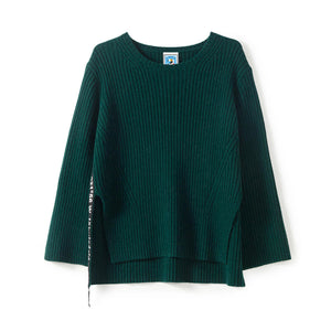Green Side Slit Sweater
