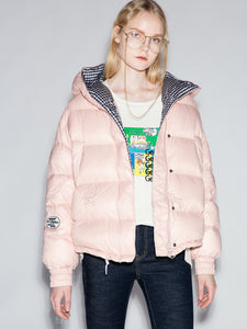 Light Pink Quilted Down Jacket