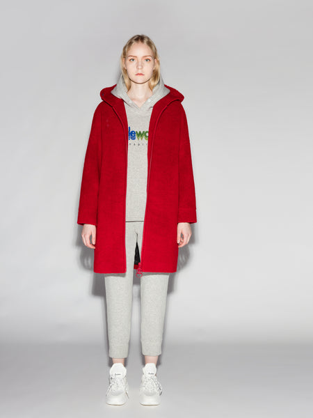 Red Fleece Hooded Airplane Coat