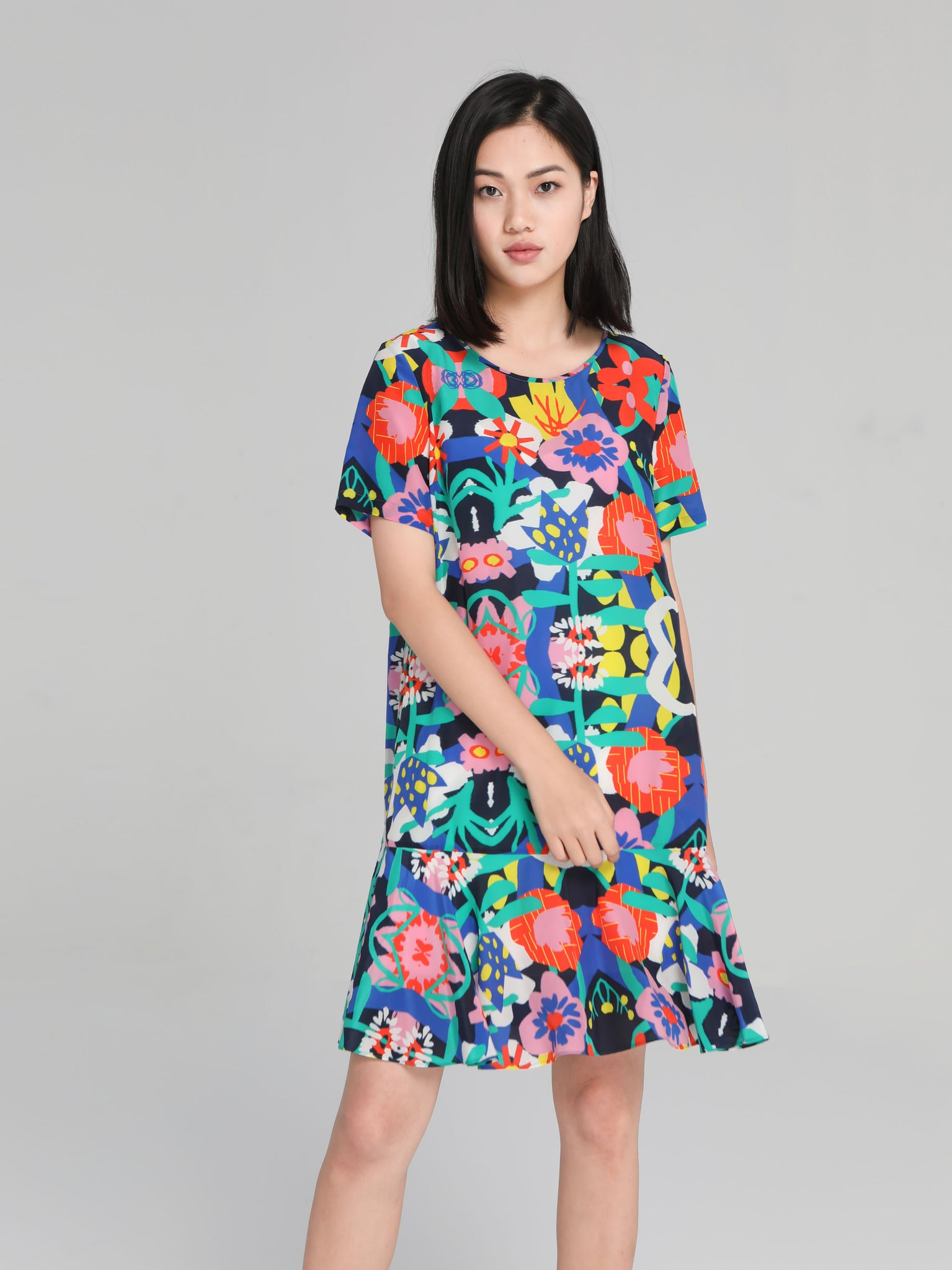 Multicolored Floral Dress
