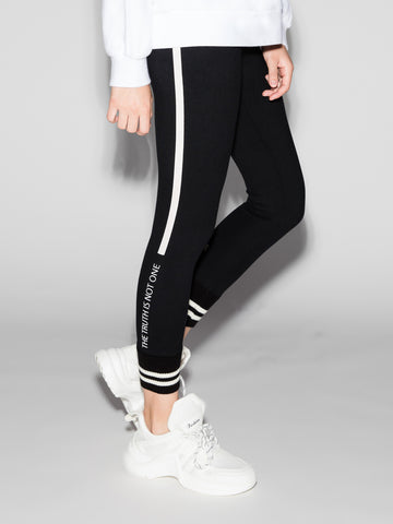 Black Ankle Length Stretch Pants