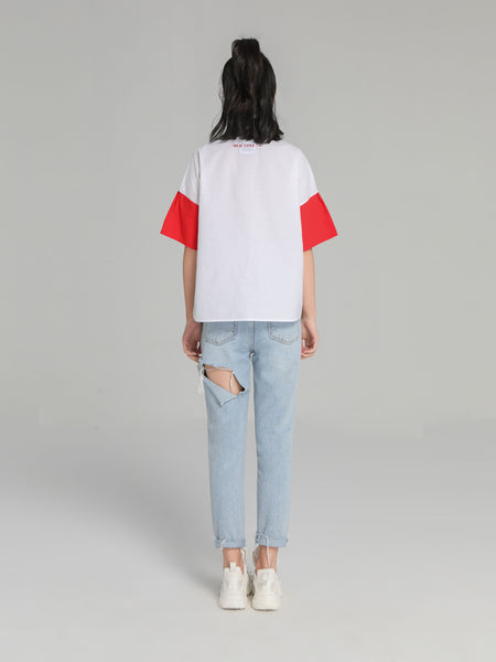 White & Red T-Shirt