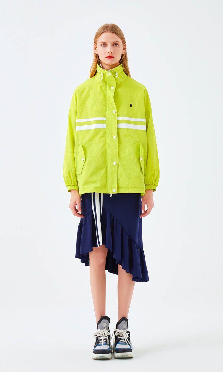 Lime Baseball Sport Windbreaker