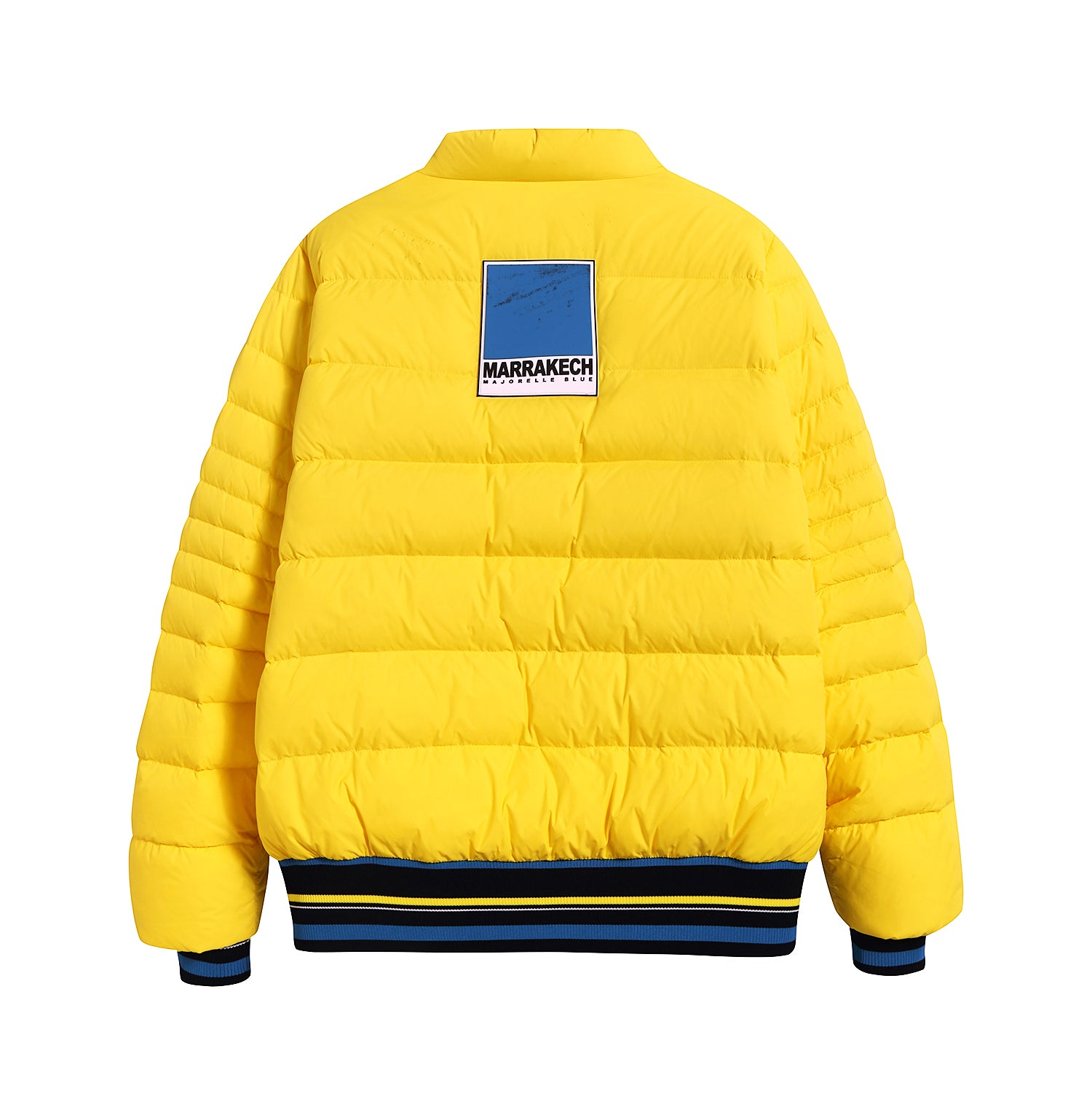 Lemon Yellow Quilted Lightweight Down Jacket