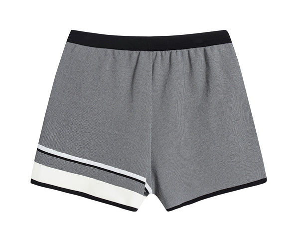 Grey Tailored Short with Contrast Stripe