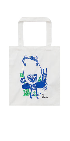 Girl U-Cat Embroidered Eco Friendly Tote Bag