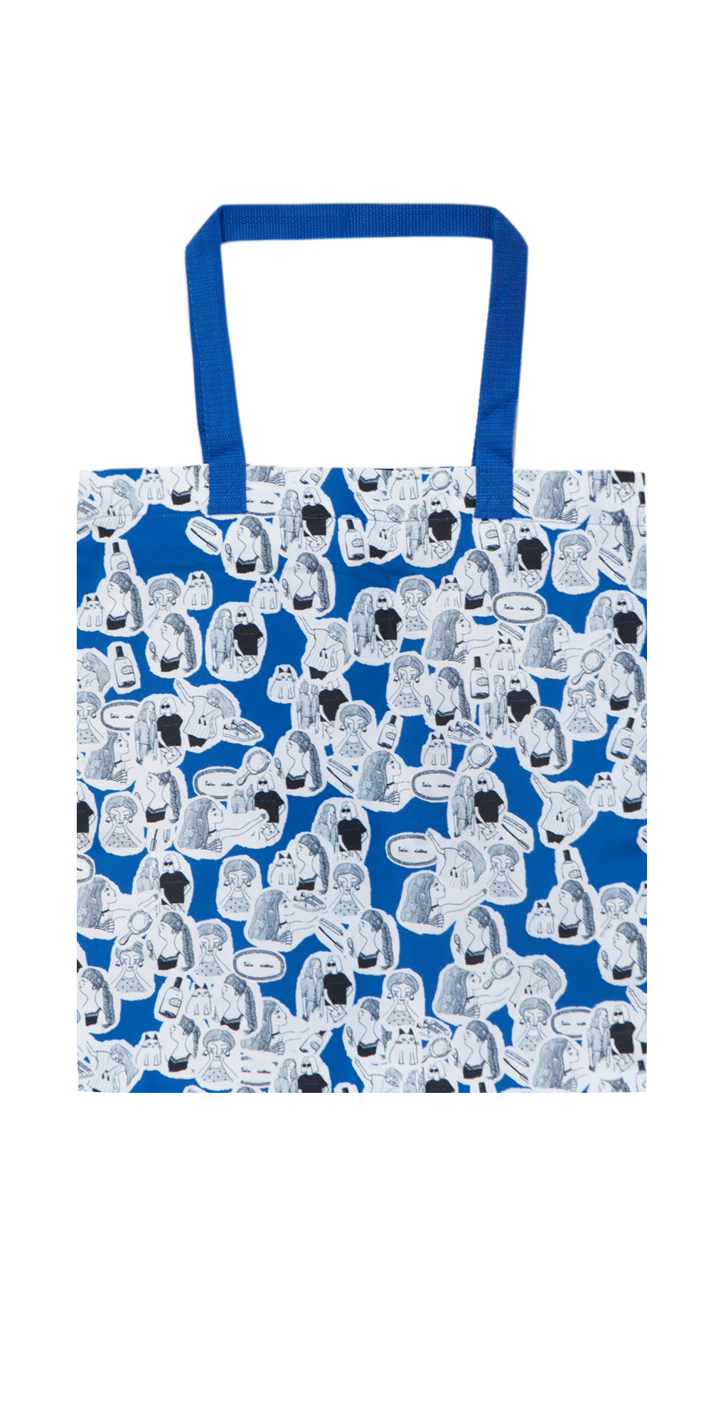 Blue and White Collages Eco Friendly Tote Bag