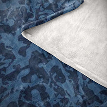 Load image into Gallery viewer, Blue Tiger Camo Microfiber Blankets