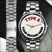 Load image into Gallery viewer, Personalized Men's LP Record Watches