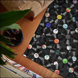 Pure Vinyl Record Area Rugs