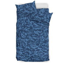 Load image into Gallery viewer, Blue Tiger Camo Bedding Sets