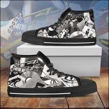 Load image into Gallery viewer, Women's Iconic Vinyl Collage Canvas Shoes (American Rock Edition)