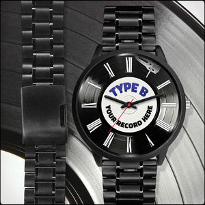 Personalized Men's LP Record Watches
