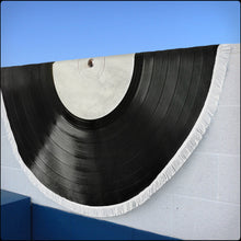 Load image into Gallery viewer, NEW! Vinyl Record Beach Blankets (5x5 ft!)