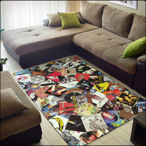 Ultimate Record Collage Area Rugs