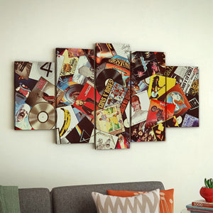 Ultimate Record Collage Five Piece Canvas Set