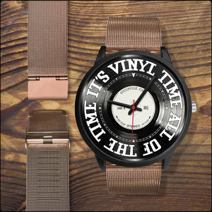 "Custom 'Vinyl Time"" Watches"