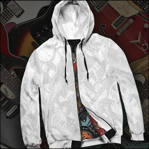 Guitar Legends Double-Printed Zip Hoodies