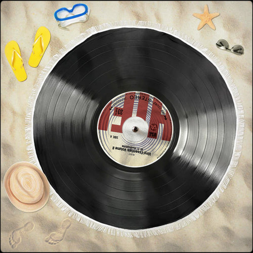 NEW! Vinyl Record Beach Blankets (5x5 ft!)