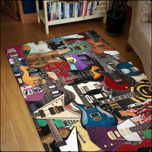 Guitar Legends Area Rugs