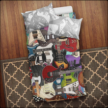 Load image into Gallery viewer, Ultimate Guitar Collage Bedding Set