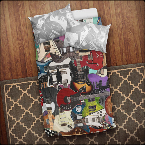 Ultimate Guitar Collage Bedding Set
