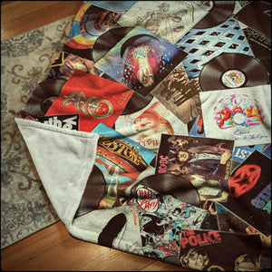 Ultimate Record Collage Microfiber Blankets