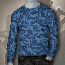 Load image into Gallery viewer, Custom Men's Blue Tiger Sweatshirts