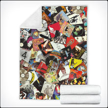 Load image into Gallery viewer, Ultimate Record Collage Microfiber Blankets