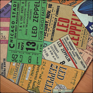 Vintage Zeppelin Concert Ticket Rugs
