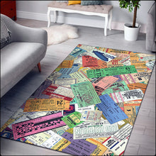 Load image into Gallery viewer, Vintage Zeppelin Concert Ticket Rugs