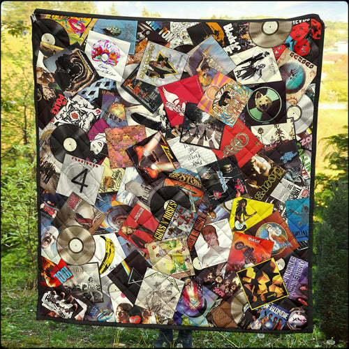 Ultimate Record Collage Quilts (Free Priority Shipping Upgrade For Select Sizes!)