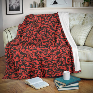 Red Tiger Camo Microfiber Blankets