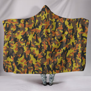 Fall Camo Premium-Soft Hooded Blankets