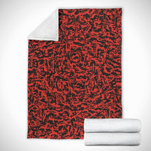 Load image into Gallery viewer, Red Tiger Camo Microfiber Blankets