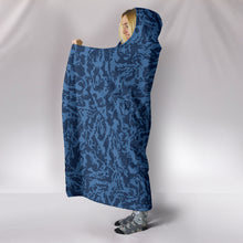 Load image into Gallery viewer, Blue Tiger Premium-Soft Hooded Blankets