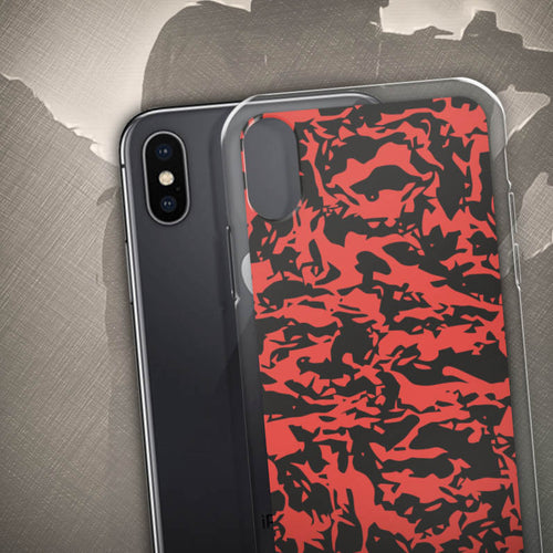 Red Tiger Camo iPhone Cases