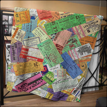 Load image into Gallery viewer, Vintage Zeppelin Concert Ticket Blankets